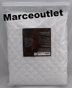Hudson-Park-Collection-Double-Diamond-FULL-QUEEN-Quilted-Coverlet-White