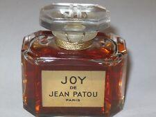 "Vintage Jean Patou Joy Perfume Baccarat Bottle 1 OZ Sealed 3/4+ Full - 2 1/4"" Ht"