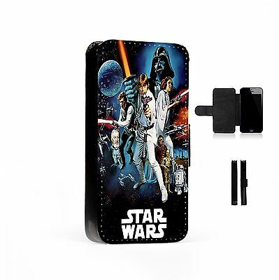 Star Wars Printed Faux Leather Flip Phone Case Cover Wallet
