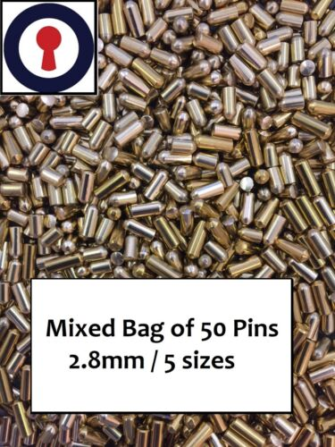 lock pins x 50 for repinning Rim Euro and Oval Cylinders 1st P/&P