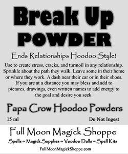 Details about Break Up Powder End Relationships Marriage Divorce Stop Love  Hoodoo Couple Break