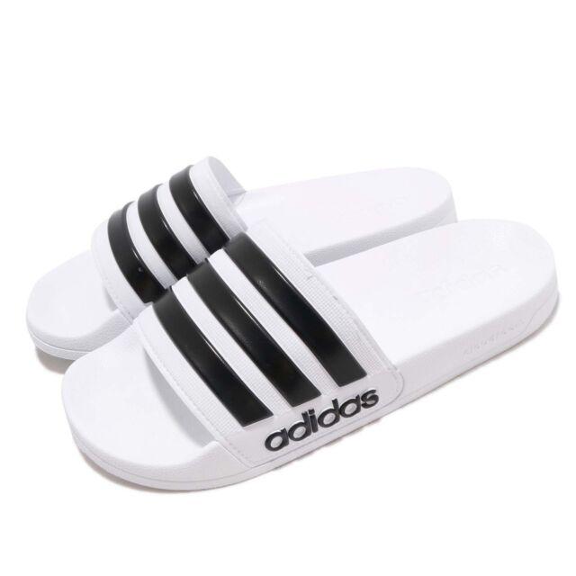 adidas Adilette Shower White Black Men Sports Sandals Slides Slippers AQ1702