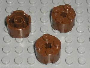 3-x-LEGO-OldBrown-round-brick-3941-set-4535-10013-6763-6766-6279-3053-6762