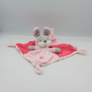Doudou-plat-lapin-gris-rose-blanc-pois-trop-Mignonne-Simba-Toys-Lapin-Plat-S