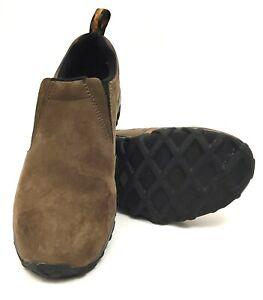 Merrell-Mens-Jungle-Moc-Sz-9-Brown-Nubuck-Slip-On-Casual-Walking-Shoes-J60831