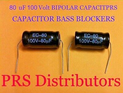 Capacitor 200 uF 100 Volt BIPOLAR BASS BLOCKER SPEAKER TWEETER CROSSOVERS 1 Pair