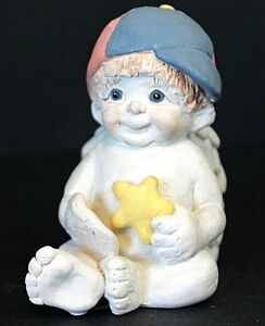 Vintage 1994 Dreamsicles Collectible Figurines Signature Boy Playing Baseball