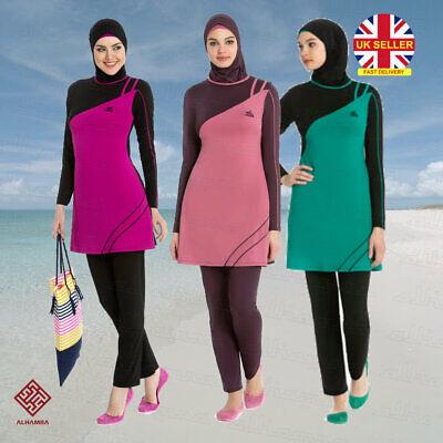 Selezionare da Donna Islamica Musulmana copertura completa Costumi Abiti modesti Costumi da bagno