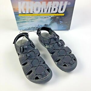 e12e662225bf KHOMBU Men s Active Travis Sandals Water Shoes Black Size 8 9 10 NEW ...
