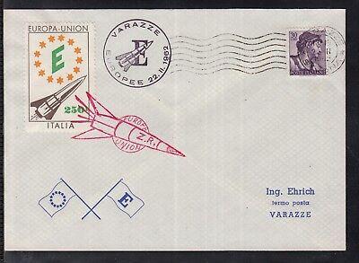 Italien 1961 Varazze Europa Union Noch Nicht VulgäR Raketenpost/ Rocket Mail Symbol Der Marke R I
