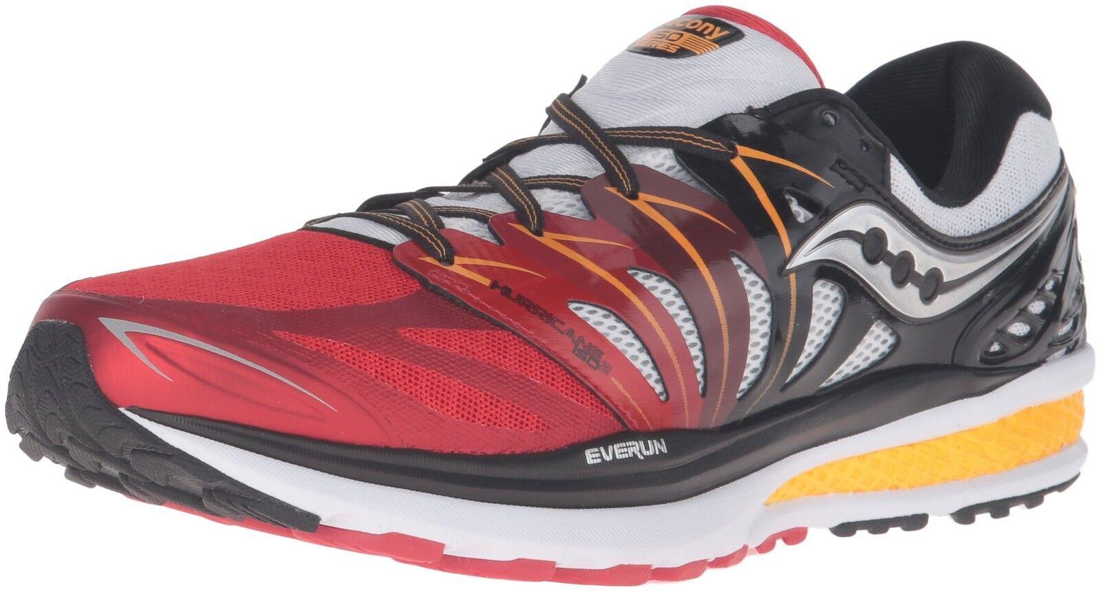 Saucony 2 Uomo scarpe- Hurricane ISO 2 Saucony rosso/bianca/arancia Size 7 M US bc2070