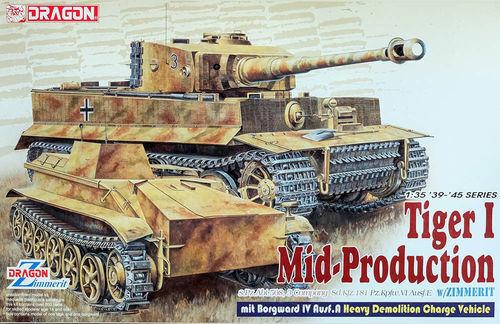 DRAGON TIGER I MID PROD. W  BORGWARD IV AUSF.A 1 35 6866  grosses soldes