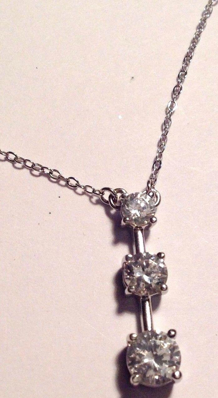 Halskette aus 925 silver Stempel Alleinstehend Kristalle Austria Diamant