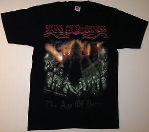 SIGNS-OF-DARKNESS-T-shirt-Dimmu-Borgir-Cradle-Of-Filth-Metal-Gr-M-NEUWERTIG