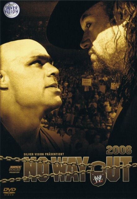 WWE No Way Out 2006 DVD WWF Wrestling (Kurt Angle vs Undertaker)