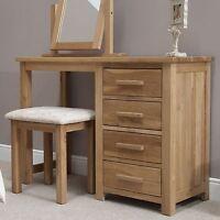Windsor Solid Oak Bedroom Furniture Dressing Table With Stool