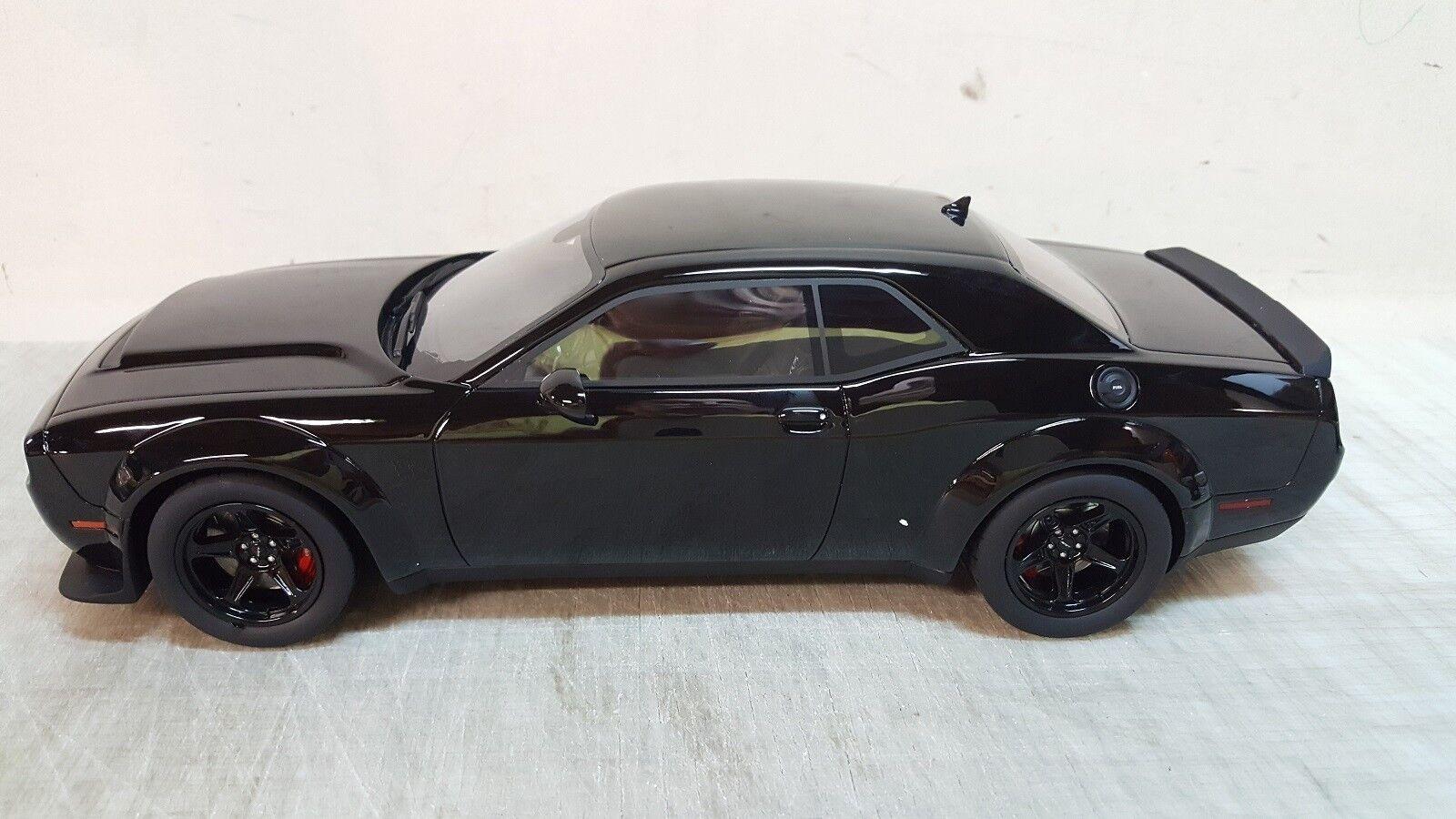 GT-SPIRIT  2018 Dodge Challenger-demonio Equipo de Respuesta Especial en Negro-En Stock.