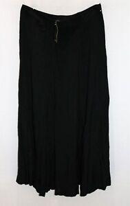 Katies-Brand-Black-Front-Splits-Maxi-Skirt-Size-12-BNWT-RB04