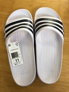 sports shoes a2da6 2152a Image is loading NWT-MENS-ADIDAS-DURAMO-SLIDE-SANDALS-SIZE-11-