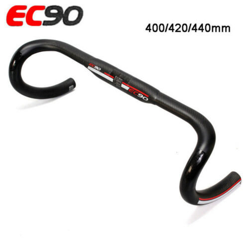 EC90 Road Bike Drop Bar Carbon Fiber Bicycle Handlebar Bars 31.8*400//420//440mm