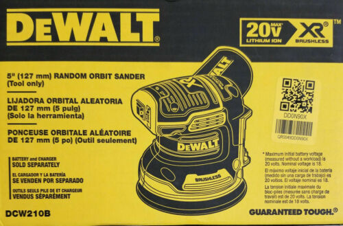 VARIABLE-SPEED RANDOM ORBITAL SANDER NEW Tool only DEWALT DCW210B 20V 5IN