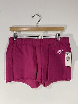 Fox Racing Onlooker Womens Fleece Shorts Cranberry