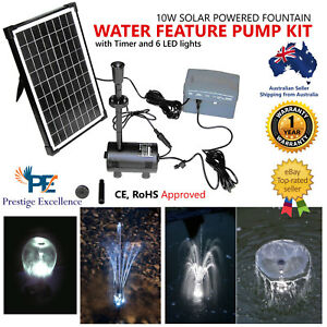 10w Solar Power Outdoor Fountain Submersible Water Pump Kit With