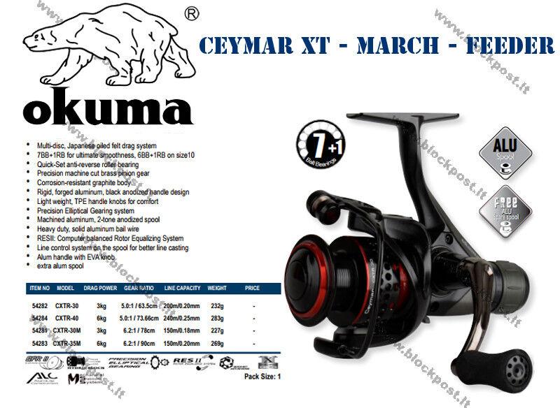 Okuma fishing reel reel fishing Ceymar  XT CTXR, RD. Match, Feeder Different Größe. New 2017 ead55f