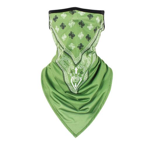 Summer Breathable Neck Gaiter Face Tube Bandana Scarf Cover Ear Loop Balaclava