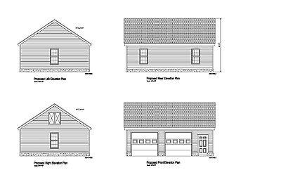 24'x30' Gable Roof Garage Plan Roof Hip Blueprint Plan #18-2430 Gbl-1 Obstructie Verwijderen