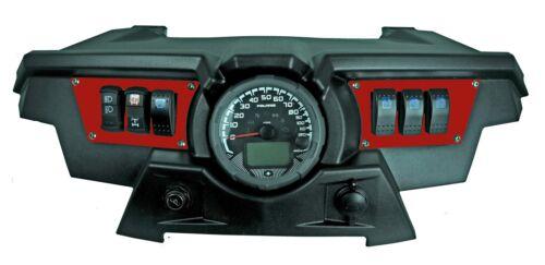 Polaris RZR XP 1000 RED Aluminum Dash Panels 6 Rocker Switches UTV NEW Razor
