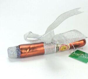 Cigar Glass Christmas Ornament NEW Kurt Adler