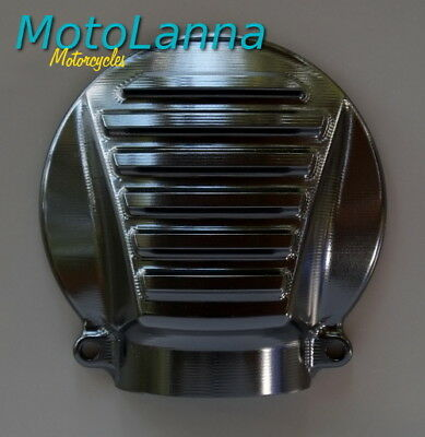 Cover Bevel Gear Finned Billet CNC Alloy Black Kawasaki W650 W800 Cafe Racer