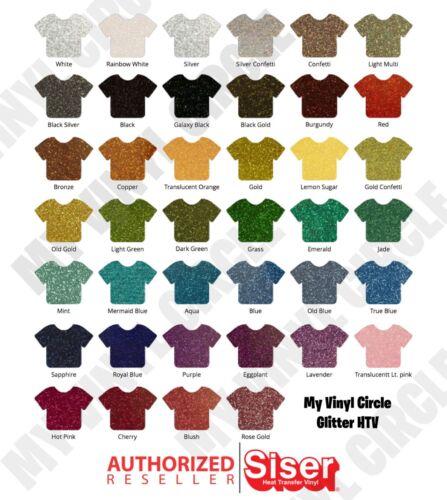 Siser EasyWeed Heat Transfer Glitter Vinyl Cricut /& Silhouette Iron On HTV