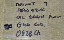 Emco Maximat 7 Lathe Head Stock Oil Drain Plug   0628CA