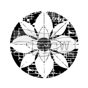 the crafter s workshop set of 2 stencils flower grid 12x12 lg