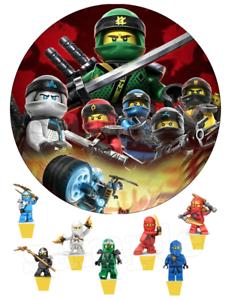 Essbar Lego Ninjago Tortenaufleger Neu Party Deko Tortendeko
