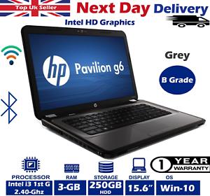 HP-Pavilion-G6-1000-15-6-034-Laptop-Intel-i3-2-40GHZ-3GB-RAM-250GB-HDD-Windows-10