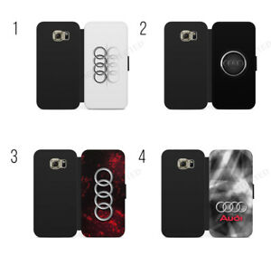 sports shoes 0b57b cca95 Details about Audi Logo S Line Audi RS Wallet Flip Case Cover For IPhone X  & Samsung Galaxy