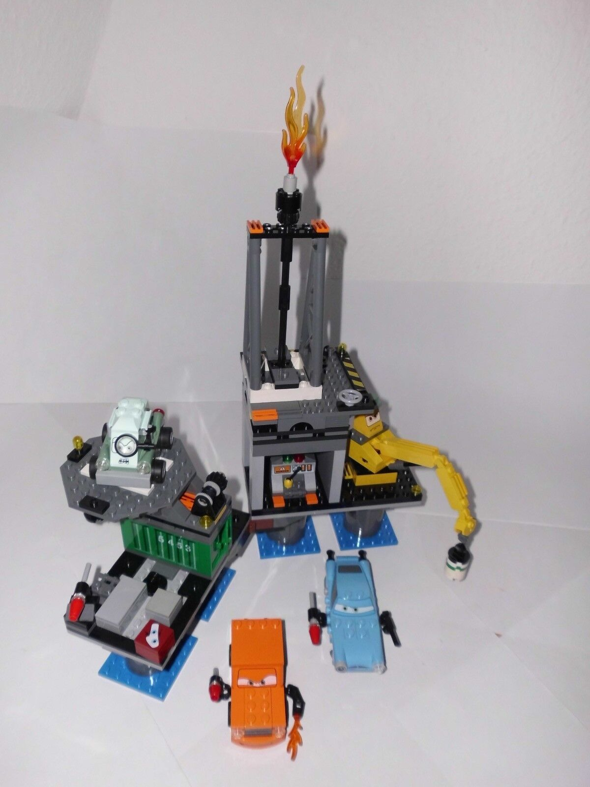 LEGO Cars Flucht von der Ölbohrinsel (9486),gebraucht,Bauanleitungen