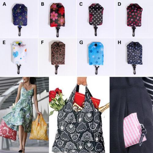 Reusable Foldable Shopping Bags Portable Shoulder Handbag Grocery Bags 34CA
