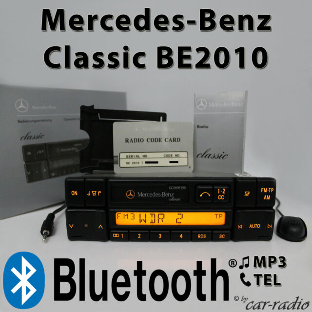Mercedes Classic BE2010 Bluetooth con Micrófono Casete Autorradio MP3 Aux-In Kit
