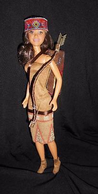 Little Native American Huntress ~ Barbie Skipper doll ooak custom repaint