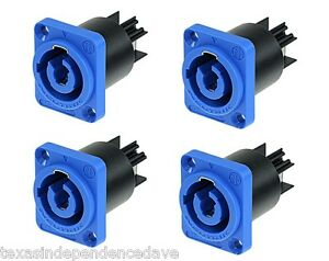 4X-NEUTRIK-Powercon-AC-Inlet-BLUE-Panel-Mount-Connectors-NAC3MPA-Power-In-20A