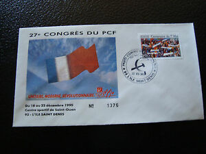 FRANCE-enveloppe-21-12-1990-27e-congres-du-PCF-cy7-french-X