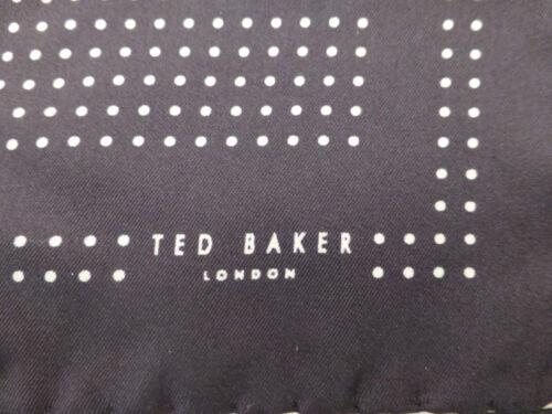 TED BAKER Poche Carré 100/% Soie Mouchoirs Noir dottys mouchoir entièrement neuf sans étiquette RRP £ 25