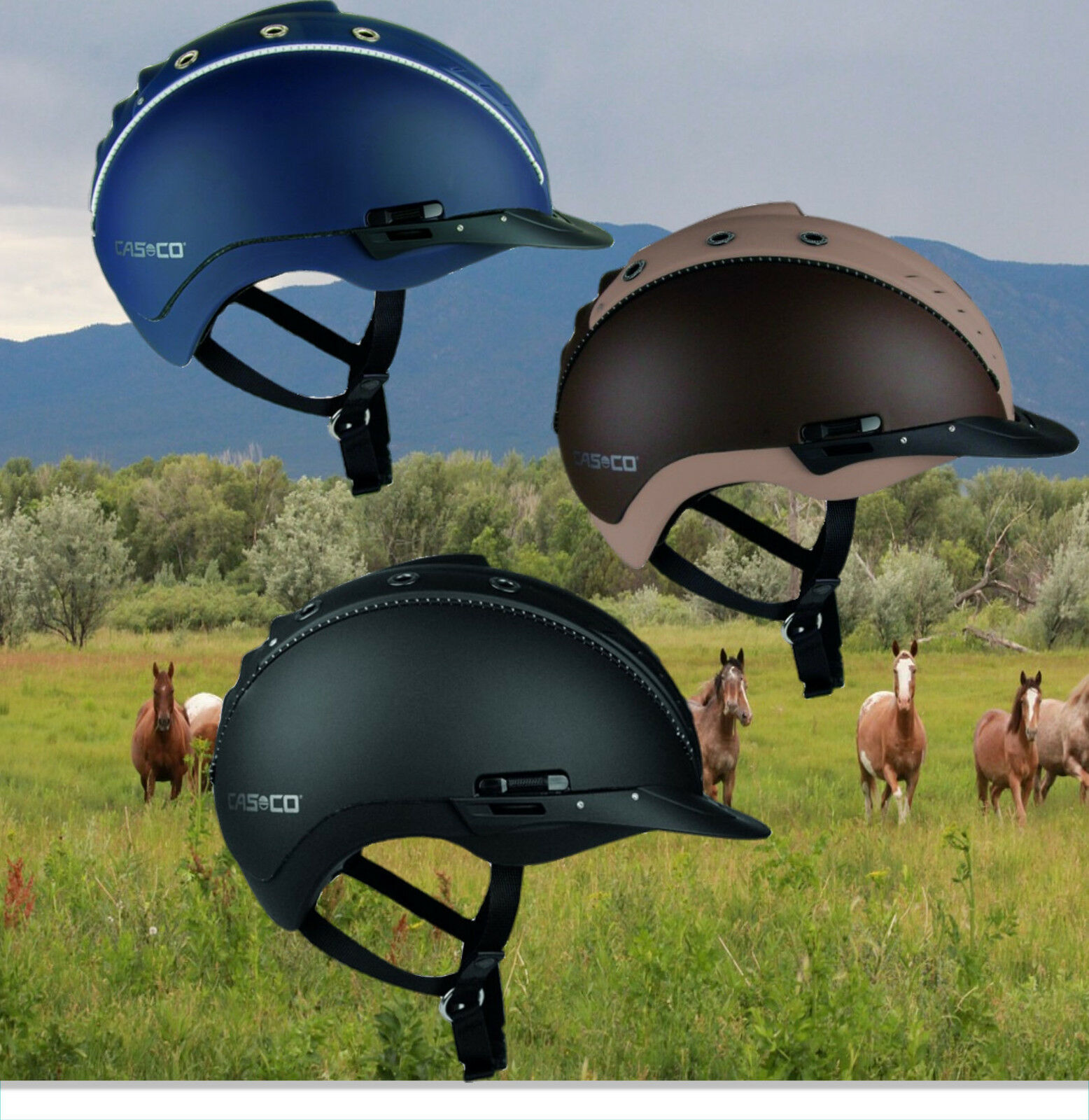 Casco Riding Helmet Mistrall 2 Navy, Casco Riding Cap Mistrall 2 Blau, New Standard