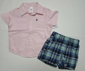 Baby-boy-clothes-24-months-Carter-039-s-shirt-shorts-NEW-WITH-TAGS