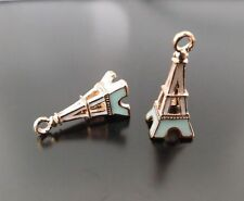 38817 Cute Enamel Colorful Alloy Eiffel Tower Charms Pendant Jewelry 12PCS