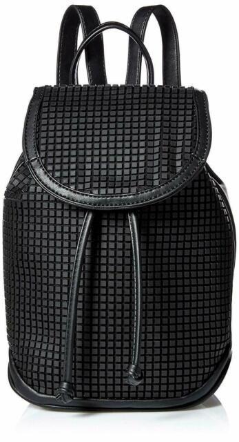 Steve Madden 💋 Black BOUNCE NWT $98 Small Backpack Hand-Bag SC